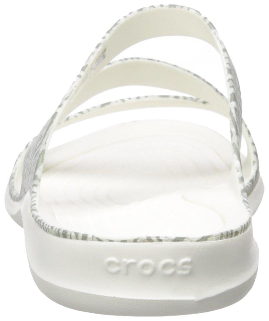 Crocs Women's Swiftwater Graphic Sandal Diamond/White B071FTWFSM 6 M US Grey Diamond/White Sandal 2f7a26