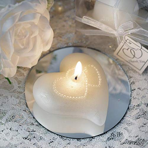 Efavormart White Heart Large Floating Candle for Wedding Party Decoration Home Decoration