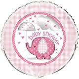 Four Pieces Unique Umbrella Elephant Girl Baby Shower Foil Mylar Balloon