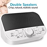 LATOW White Noise Machine, Womb Sound Machine for Baby Sleeping, 28 Non-Looping Sounds for Kids Adults Home Office Travel, 2 Speakers, Headset Jack,DC Output and Timer Sound Spa