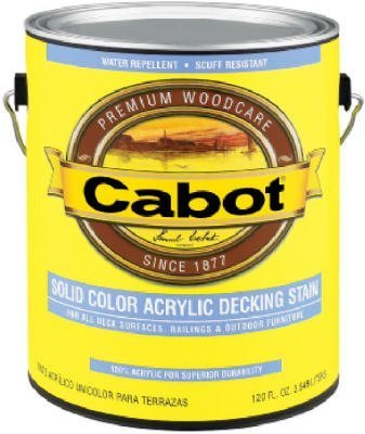 CABOT STAIN 41808 MEDIUM BASE SOLID COLOR DECKING STAIN WITH SURFACE PROTECTOR SIZE:QUART. by Cabot Stains