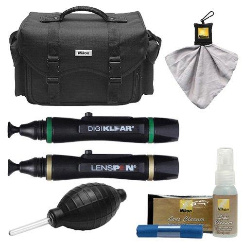 Nikon 5874 Digital SLR Camera Case - Gadget Bag with Nikon Cleaning Kit for D3300, D3400, D5500, D5600, D7200, D7500, D610, D750, D810, D850, D5 by Nikon