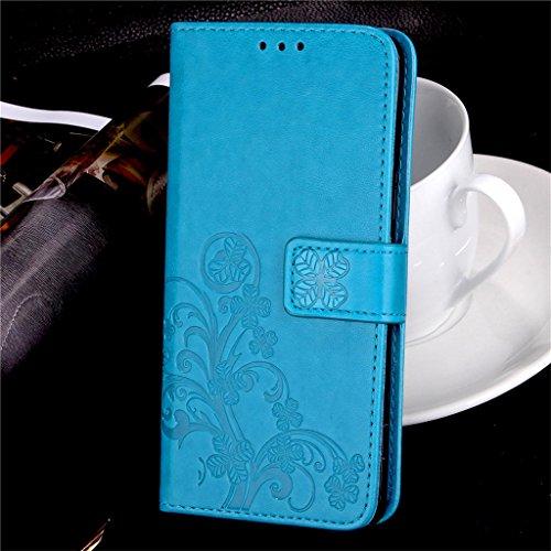 Erdong® funda Para Elephone P8000 5.5, Flip Book-style Superior Rose PU de la carpeta de cuero de diseño [impresión flor] Con la función del soporte y ranuras titular de la tarjeta para Elephone P800