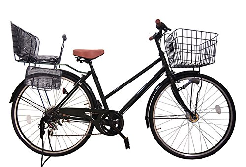 Lupinusルピナス 自転車 26インチ LP-266TA-knr-b シティサイクル シマノ製外装6段ギア オートライト 後子乗せブラック B073LMD1B2 ブラック ブラック