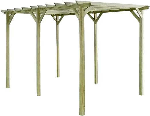 Zora Walter Pérgola de jardín de Madera de Pino impregnada 4x2x2m Estructuras de Exteriores Pérgolas, Arcos y enrejados de jardín: Amazon.es: Jardín