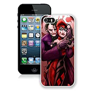 Joker And Harley Quinn Love White Hottest Sell Customized iPhone 5 5S Case