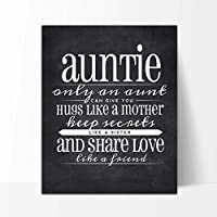 Amazoncom Auntie Gift Auntie Quote Sign Auntie Quote Chalkboard