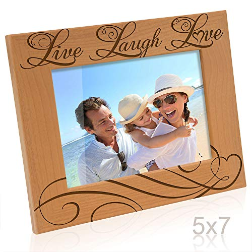 Kate Posh - Live Laugh Love Wooden Picture Frame (5x7 Horizontal)