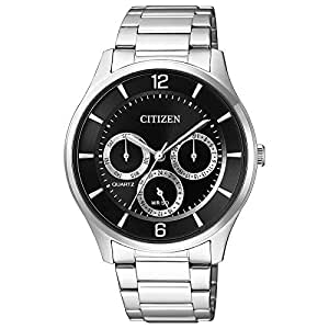 Citizen Men's Black Dial Stainless Steel Band Watch - AG8351-86E