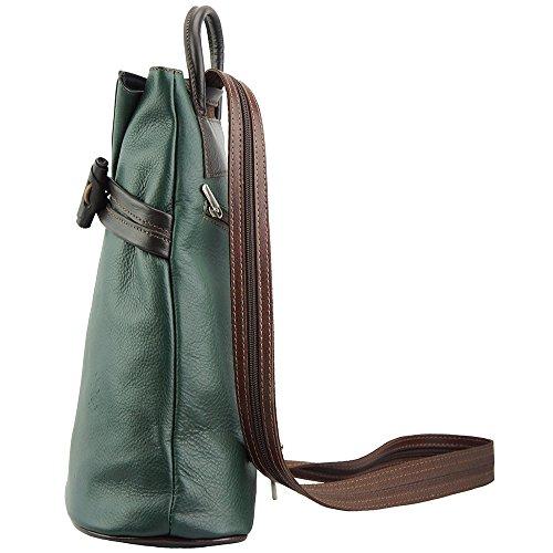 De Leather Sac Fiorella Dos À Épaule En Souple 2062 Et marron Vache Market Cuir Foncé Florence Vert vRBqwdWxUw
