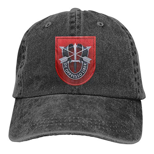Laoyaotequ Trucker Cap 7th Special Forces Group Durable Baseball Cap,Adjustable Dad Hat Black