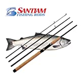 "Santiam Fishind Rods Travel Rod 4 Piece 7'6"" 6-12lb MF Graphite Spinning Rod Review"
