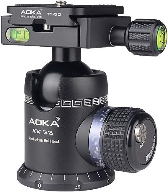 Camera Tripod Head HA Q39 360 Degree Rotation Panoramic Metal Ball Head for DSLR /& Digital Cameras