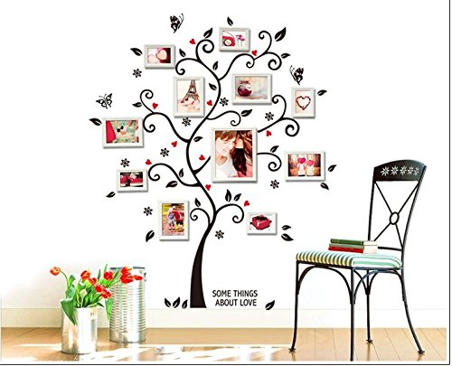 Photo Tree Sticker - 1 Piece 3D DIY Removable Photo Tree PVC Wall Decals Wall Stickers Mural Art Home Dcor 100x120Cm/40x48in