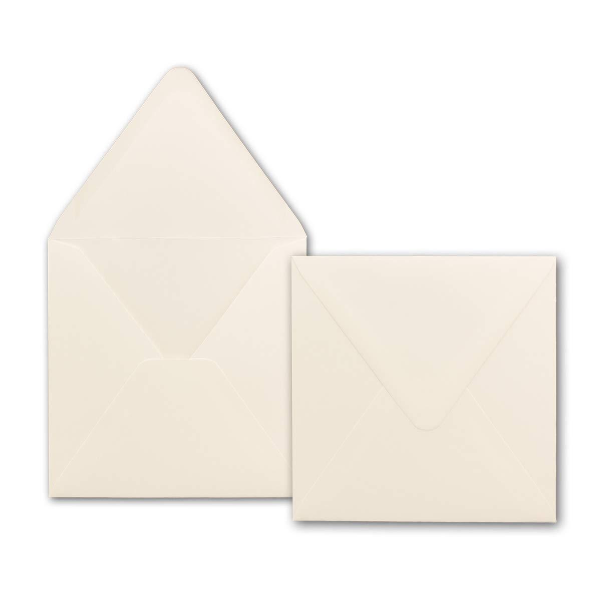 400x quadratische Brief-Umschläge 150 x 150 mm - Creme-Weiß - 120 g m²   Für ganz besondere Anlässe  - Nassklebung - Qualitätsmarke  GUSTAV NEUSER B076CM2LLS | Bevorzugtes Material  | Starke Hitze- und Hitzebeständigkeit