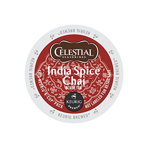 - Celestial Seasonings India Spice Chai Tea K-Cup 48 Count Case