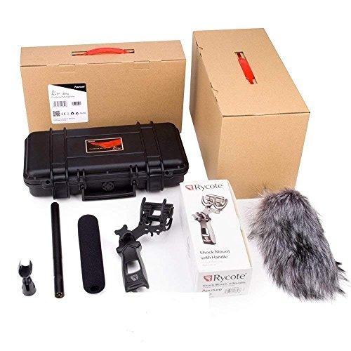 Aputure Deity Professional Condenser Shotgun Video Microphone Kit with Shock Mount Compatible Canon Nikon Sony Digital Camera DV Camcorder Digital Camera