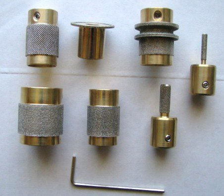 Stained Glass Grinder Head Bit 7 Sizes Quality Brass Core (Glass Grinder Bits compare prices)