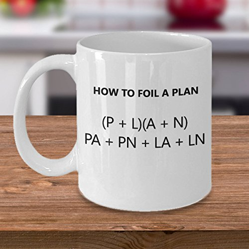 Mug Creatory - Funny Algebra Teacher Mug - Math Teacher Gift - Algebra Present - How to Foil a Plan, Coffee Mug 11oZ
