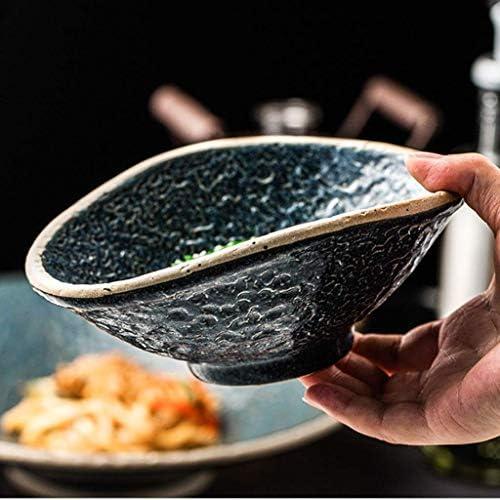 HIDDW Ciotola in Ceramica in gres Pietra in Stile Ciotola Fredda Ciotola per Ramen per la casa