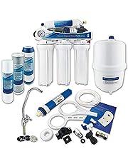 Finerfilters Omgekeerde osmose onder gootsteen drinkwaterfiltersysteem (50GPD) voor thuis thuis, verwijdert tot 99% van de verontreinigingen voor het allerbeste drinkwater (5 fase met Boosterpomp)