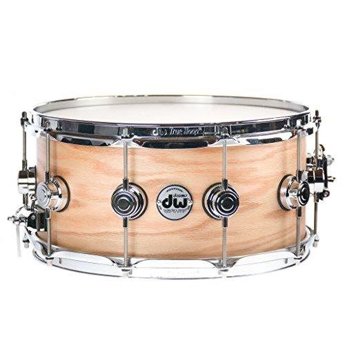(DW 6.5x14 Pure Oak Custom Snare Drum w/Chrome)
