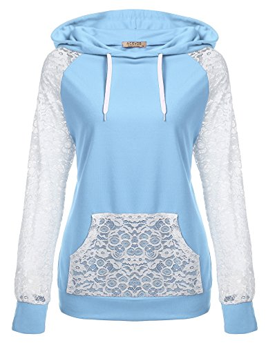Hooded Long Sleeve Lace - 8