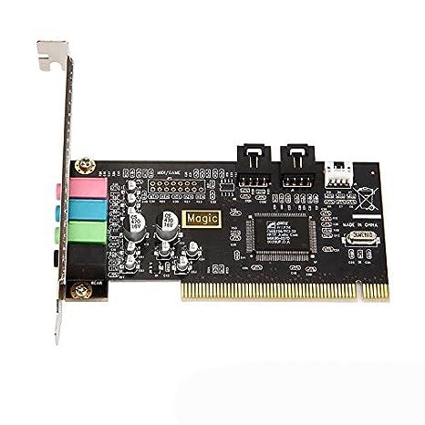 TOOGOO Tarjeta de sonido interna PCI clasica profesional 4.1 ...