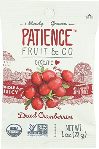 (Patience Fruit & Co. Organic Dried Cranberries Fruit Snacks, 1 Ounce (Pack of 15))