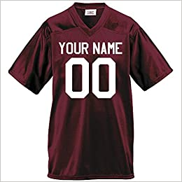 0c5ef2044f9 Amazon.com: Custom Football Jersey for Youth and Adult you Design Online in  Adult 3x-large in Maroon: Books