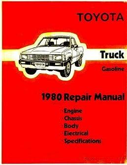 toyota truck pickup 1981 repair manual engine chassis body rh amazon com Toyota 22RE Engine Diagram Sensors Toyota 22RE Parts Diagram