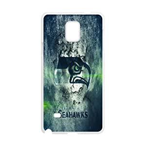 Seattle Seahawks Images Samsung Galaxy Note 4 Case, [White]
