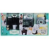 PlayGo Pretend Play Gourmet Kitchen Appliance Set-Single Serve Coffee Maker, Mixer & Toaster, 3 Piece