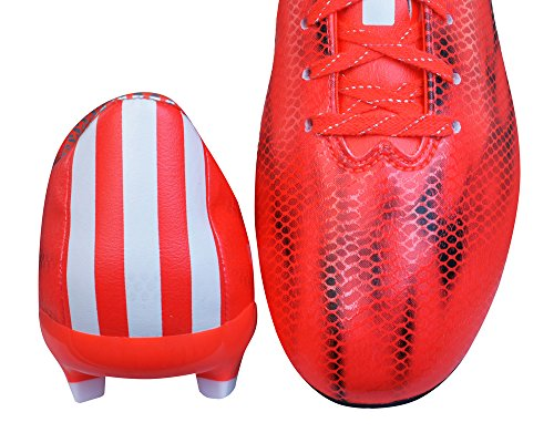 adidas F10 FG Hommes Chaussures de football-Red-39.5