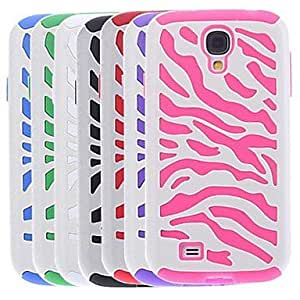 HP DFHigh Quality Zebra Stripe Pattern Hard Case for Samsung Galaxy S4 I9500 (Assorted Colors)
