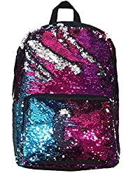 Funky Junque's Multi Color Changing Sequin Fuzzy Glitter Backpack Shoulder Purse