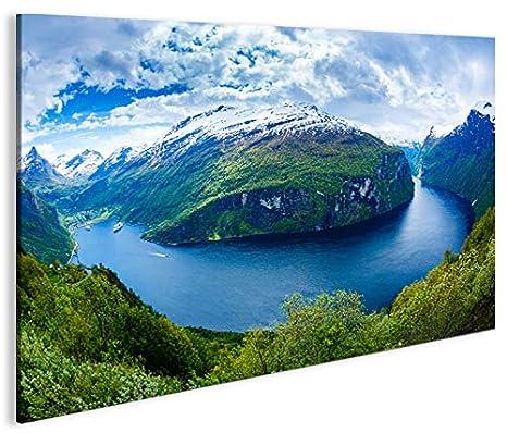 Quadro moderno Fiordi V2 Noruega Impresión sobre lienzo ...