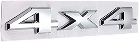Alamor Auto 3d Neue 4 X 4 Aufkleber Chrom Logos Aufkleber Emblem Für Jeep Dodge Abs Küche Haushalt
