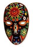 NOVICA Decorative Huichol Papier Mache Mask, Multicolor 'Father Sun'