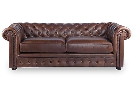 Alamenti Florentine 3 Seater Leather Sofa (Tan)