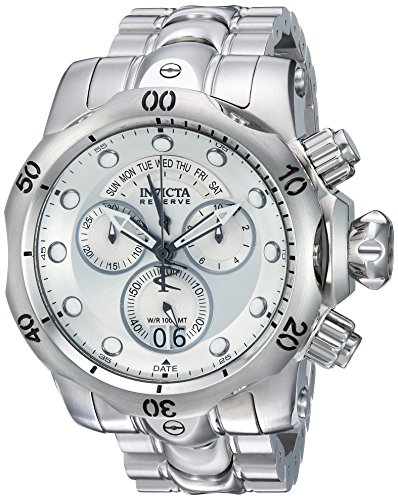 Invicta Men's 1537 Reserve Venom Chronograph Silver Dial Stainless Steel Watch Invicta Reserve Venom