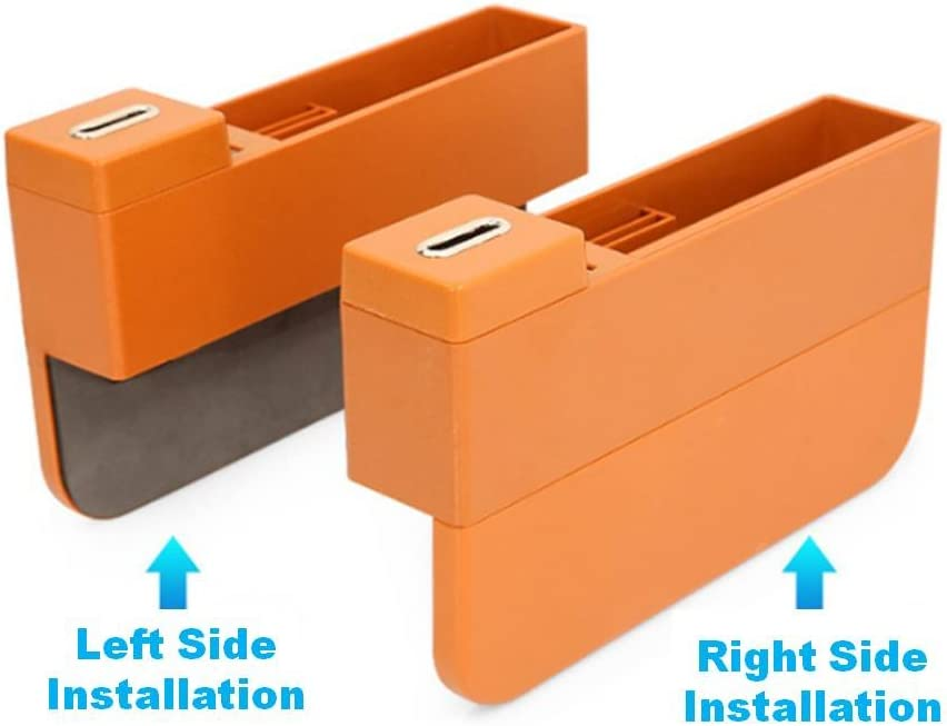 2 USB Charging Ports Black AKAHA Car Seat Side Pocket Multi-fuctional a Medium Sized Pocket and Two Small Sized Pockets Console Side Pocket Car Seat Organizer Gap Storage Box