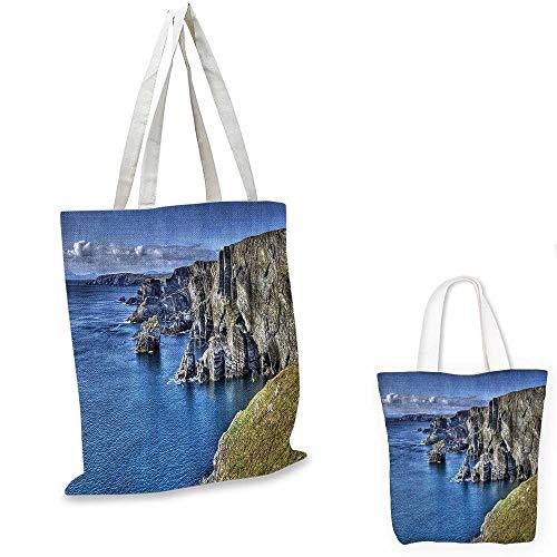 Room Decorations Collection shopping tote bag Atlantic Coast Cliffs at Mizen Head County Cork Ireland Ocean Coastal Scenery Image travel shopping bag Blue Grey. 12