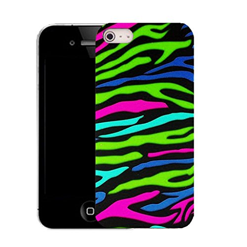 Mobile Case Mate iPhone 5c clip on Silicone Coque couverture case cover Pare-chocs + STYLET - wild zebra print pattern (SILICON)