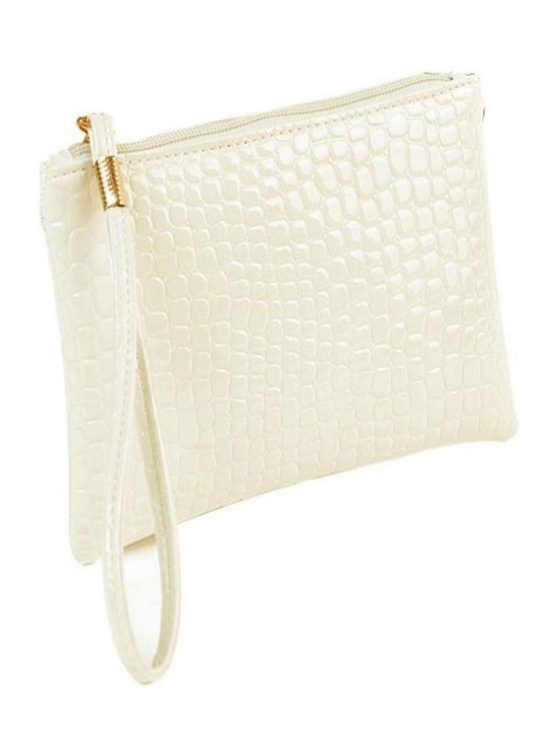 Sumen Women Purse, Vintage Leather Crocodile Patten Mini Bag Handbag Gift for Women (White)