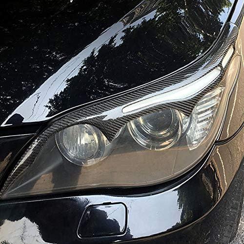 HDCF Fari in Fibra di Carbonio Sopracciglia Palpebre per e60 Serie 5 Car Styling Fari Anteriori Sopracciglia Accessori per Rivestimento