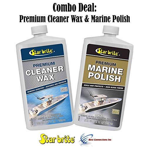 (Star Brite Premium Cleaner Wax & Marine Polish w/PTEF Combo Deal 85732 89632)