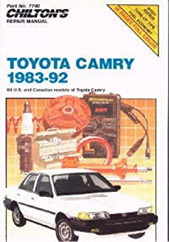 ch7740 chilton toyota camry 1983 1992 repair manual manufacturer rh amazon com Toyota Camry Crash Toyota Camry Crash