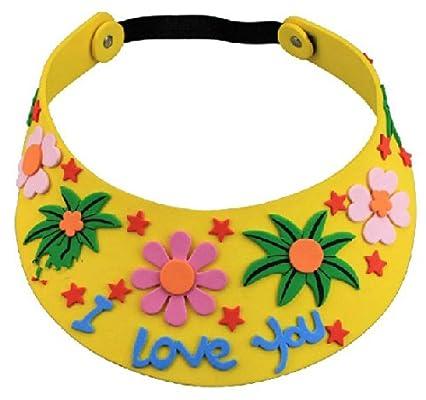 diy手工皇冠太陽帽子頭飾eva制作粘貼畫立體貼畫兒童益智玩具 黃色空
