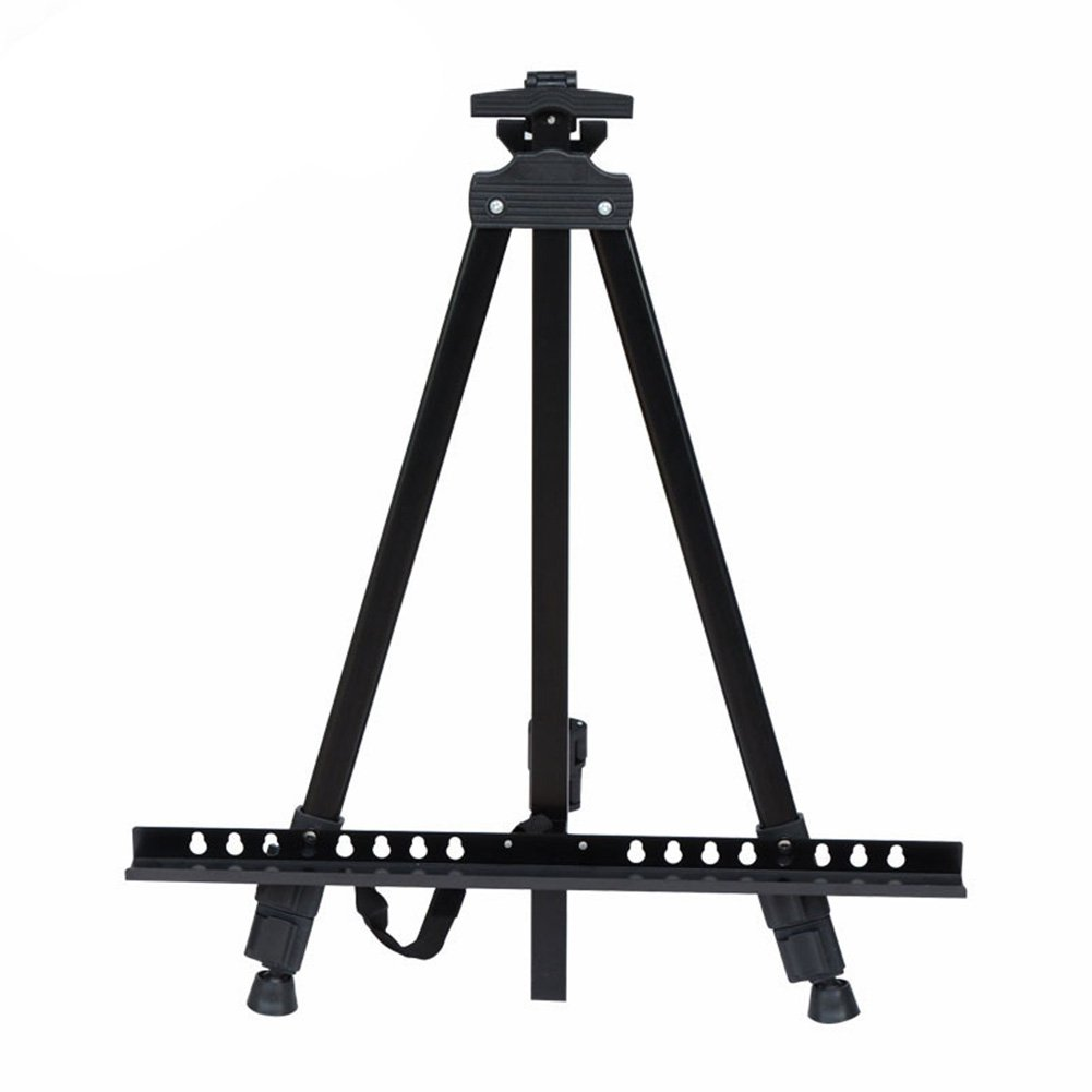 Art Easel Iron Field Easel Floor Table Top Portable Adjustable Lightweight Telescoping Easel for Painting Includes Carry Bag KRISS